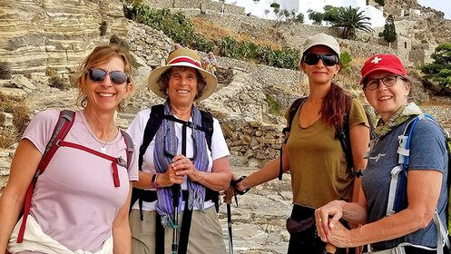 Greece retreat hikers