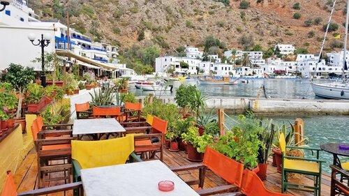 Crete water edge view