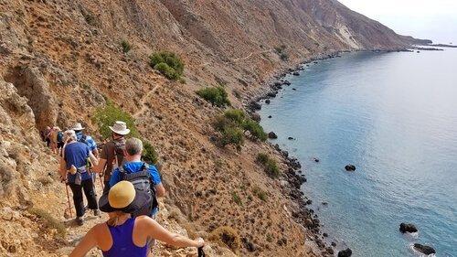 Greece retreat hike by sea